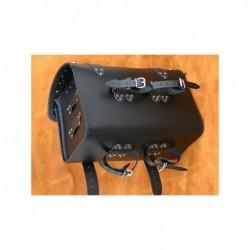 Centralny kufer motocyklowy gładki / SA-K1A - pasy montażowe