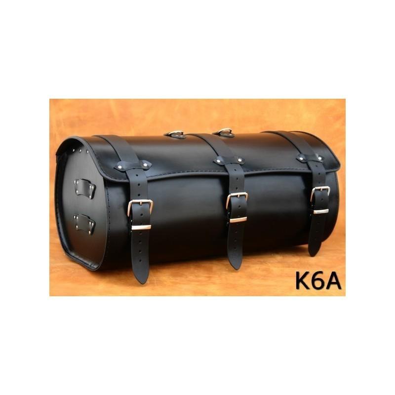 Motocyklowy centralny kufer skórzany gładki / SA-K6A