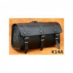 Skórzany kufer motocyklowy gładki / SA-K14A