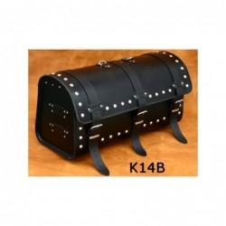 Skórzany kufer motocyklowy ćwieki / SA-K14B