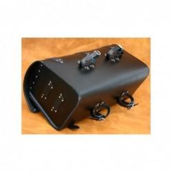 Skórzany kufer motocyklowy z ćwiekami i frędzlami / SA-K14C - spód