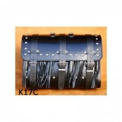 Kufer motocyklowy na bagażnik z ćwiekami i frędzlami / SA-K17C