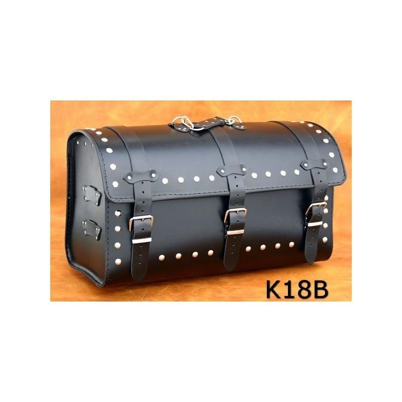 Ćwiekowany skórzany kufer motocyklowy / SA-K18B