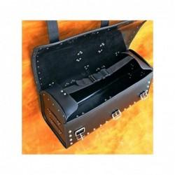 Ćwiekowany skórzany kufer motocyklowy / SA-K18B - wnętrze