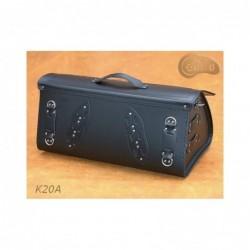 Skórzany kufer motocyklowy ze skrzydłami / SA-K20A - tył