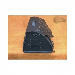 Skórzany kufer motocyklowy ze skrzydłami / SA-K20A - bok