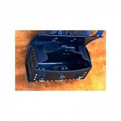 Kufer centralny z 3 klamrami gładki / SA-K21A - środek