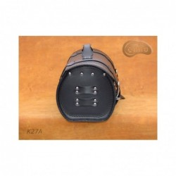 Motocyklowa rolka bagażowa z ćwiekami i frędzlami / SA-K27C - bok