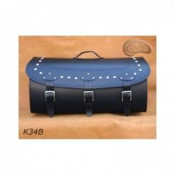 Skórzany kufer na bagażnik motocyklowy/ SA-K34B