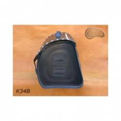Skórzany kufer na bagażnik motocyklowy/ SA-K34B 55 L