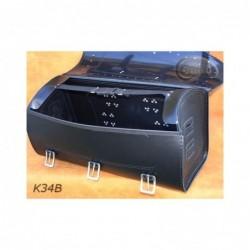 Skórzany kufer na bagaznik motocyklowy/ SA-K34B pojemność 55 litrów