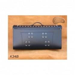 Skórzany kufer na bagażnik motocyklowy/ SA-K34B - tył