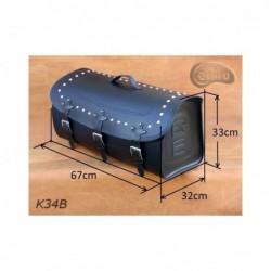 Skórzany kufer na bagażnik motocyklowy/ SA-K34B - wymiary