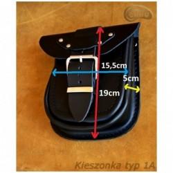 Kieszonki boczne do kufrów - z ćwiekami / SA-Ki1B - wymiary