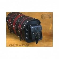 Kieszonki boczne do kufrów - z ozdobnymi ćwiekami / SA-Ki6B - na kufrze