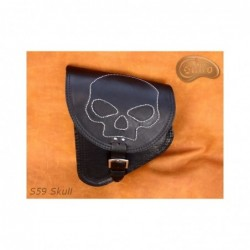 Skórzana sakwa do motocykla H-D Softail z czaszką / SA-S59SK