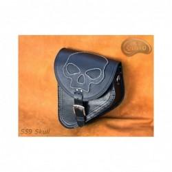 Skórzana sakwa do motocykla H-D Softail z czaszką / SA-S59SK - wzór