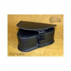 Czarna skórzana sakwa do motocykla H-D Softail / SA-S63 - dół