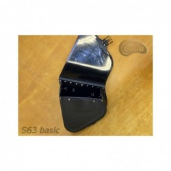Czarna skórzana sakwa do motocykla H-D Softail / SA-S63 - wnętrze
