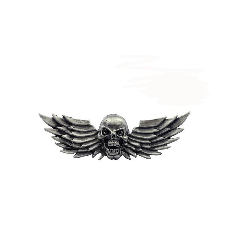 Emblemat motocyklowy czaszka ze skrzydłami / TOR 8083971