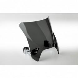 Czarna szyba motocyklowa Mohawk - mocowanie chromowane typu A (do 43 mm) / N2831-001