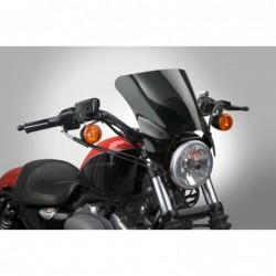 Czarna szyba motocyklowa Mohawk - mocowanie chromowane typu A (do 43 mm) / Harley