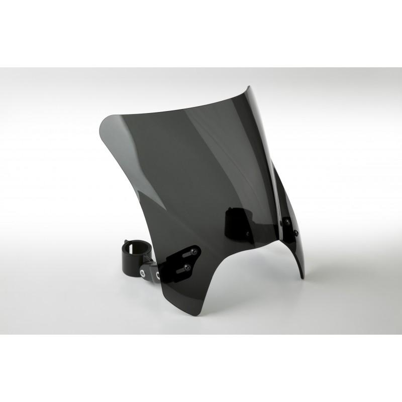 Czarna szyba motocyklowa Mohawk -  mocowanie czarne Typu A ( do 43 mm) / N2831-002