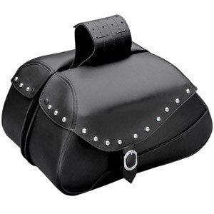 Skórzane sakwy motocyklowe - ćwiekowane lub gładkie, z zamkami i bez.