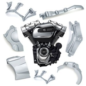 Nakładki na silnik motocykla