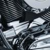 Ozdobne nakładki na blok silnika motocykla.