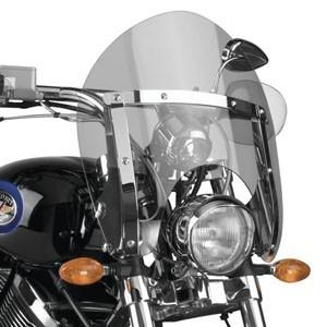 Motocyklowe szyby szybko zdejmowalne - wypinane bez użycia kluczy.