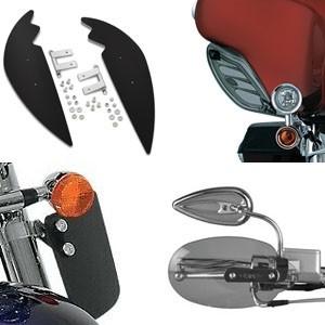 Motocyklowe deflektory na ręce, nogi i montowane do owiewek