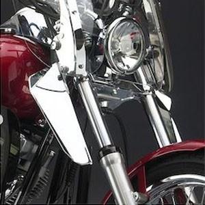 Motocyklowe deflektory na nogi - ochrona przed wiatrem
