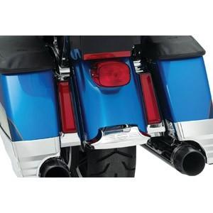 Nakładki, osłony i ozdoby kufrów bocznych i centralnego motocykli.