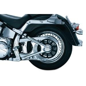 Nakładki, osłony i ozdoby  tylnego zawieszenia motocykla.