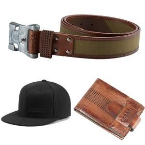 Motocyklowe gadżety - czapki, portfele, paski