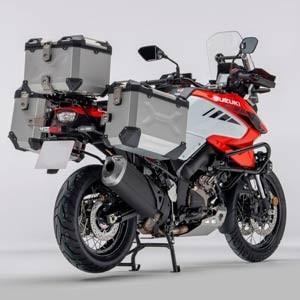 Bagaż do motocykli typu Adventure, aluminiowe kufry boczne, centralny